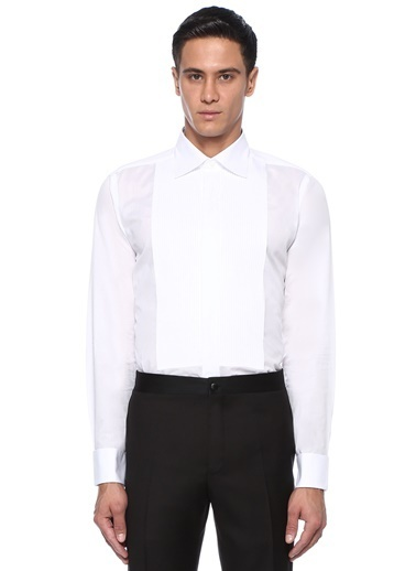 Canali Smokin Gömlek Beyaz